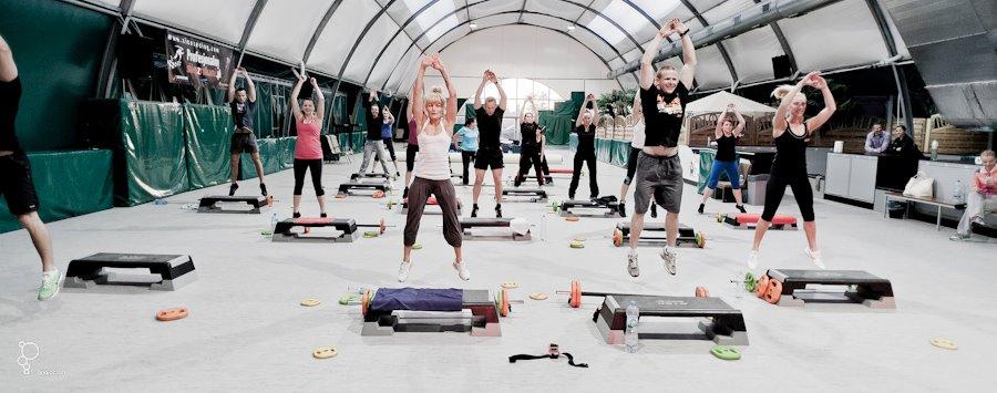 red fitness trening