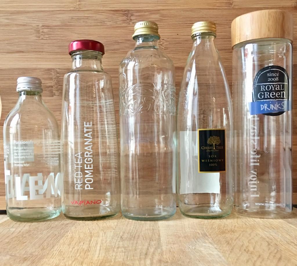 Używaj szklane butelki do wody z odzysku!