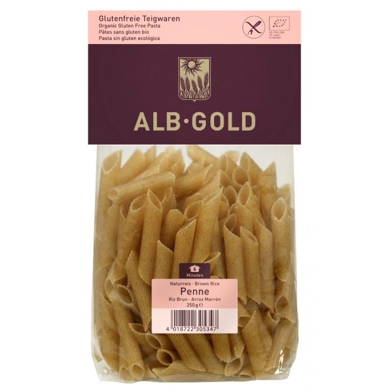 Ekologiczny makaron bezglutenowy z ryżu brązowego Alb-Gold