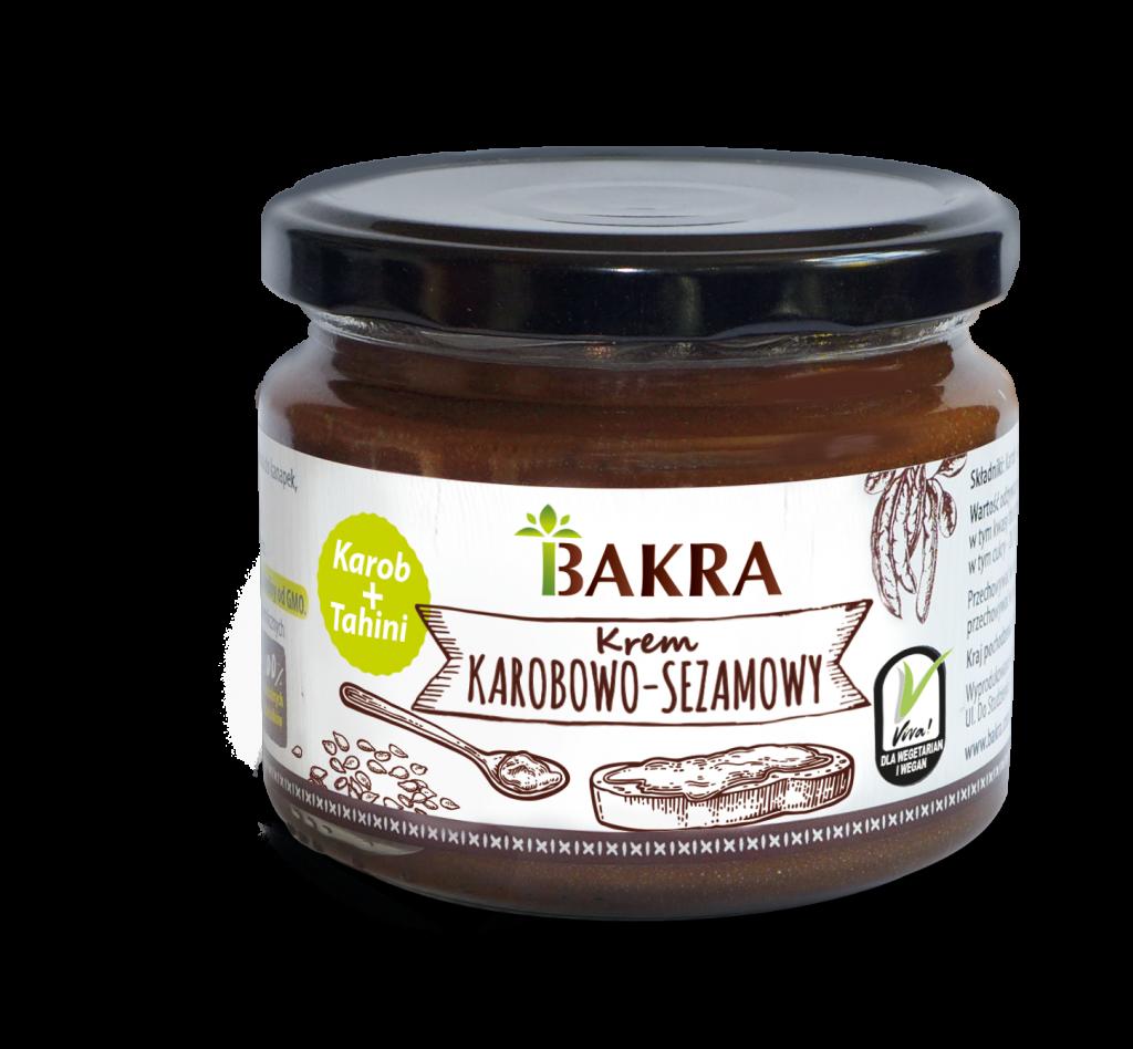 Krem karobowo-sezamowy Bakra