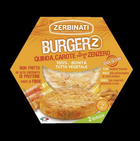 Roślinne burgery na bazie warzyw i quinoa Zerbinati