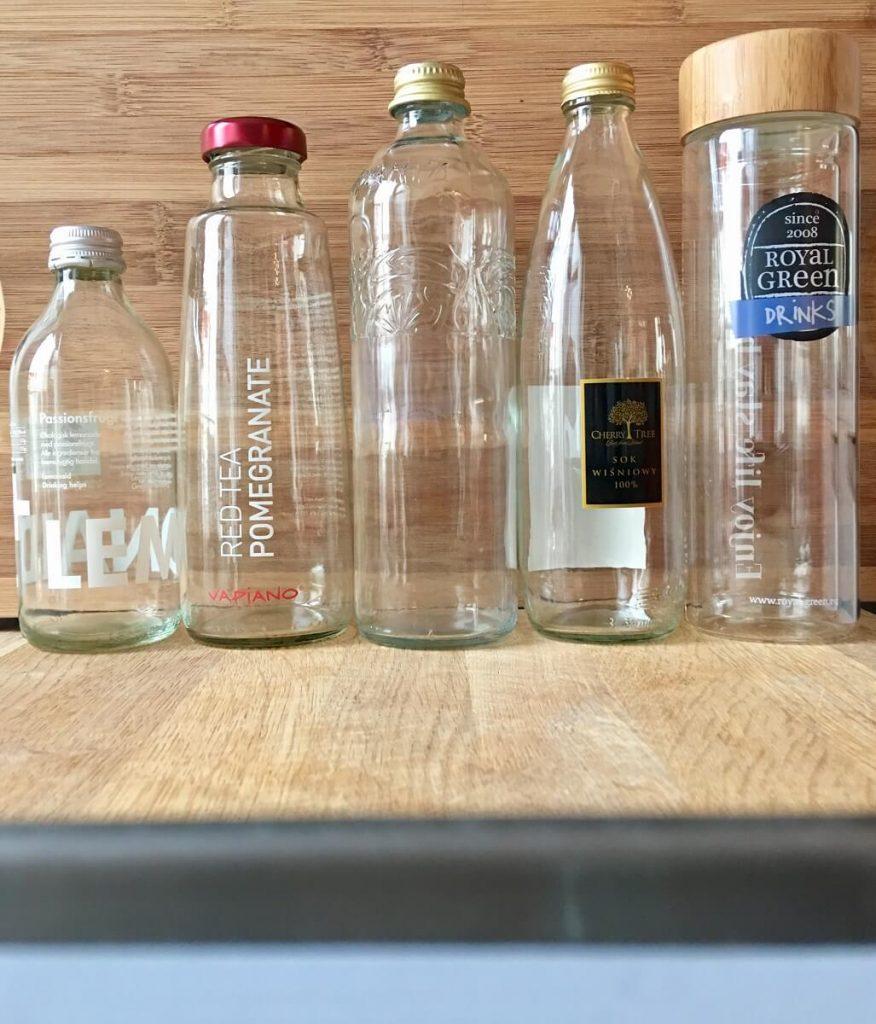 Butelki szklane do wody - magazyn Hipoalergiczni